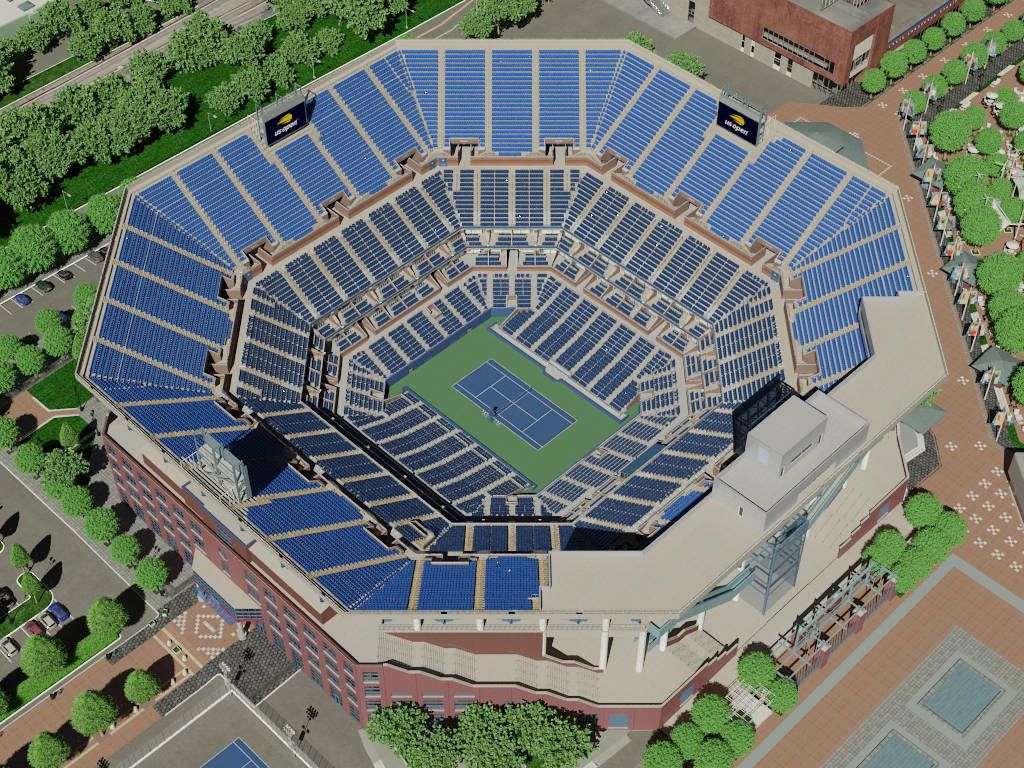 Arthur Ashe Virtual Venue - Us open map